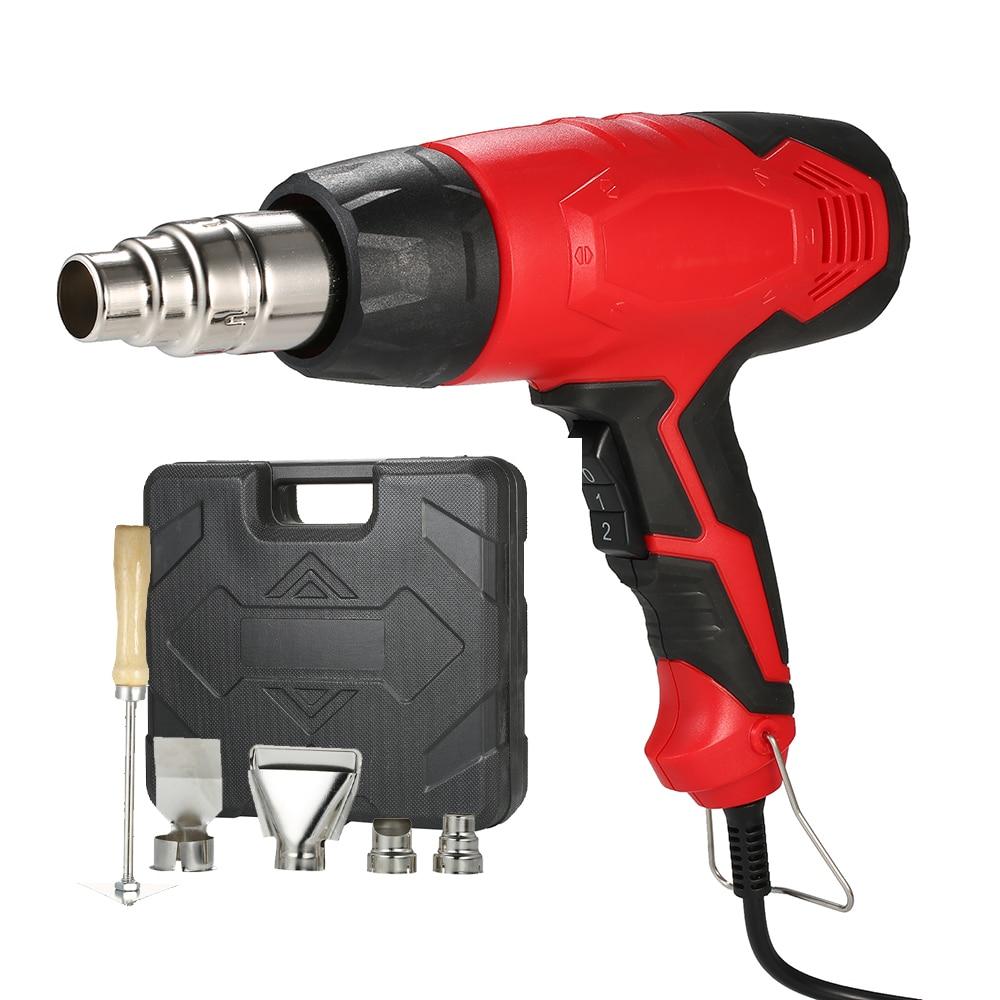 Image 2 - 2000W AC220V Electric Hot Air Gun Heat Guns Air Gun Adjustable Heat Gun Tool For Soldering Hair Dryer Building Hot Air Nozzle-in Heat Guns from Tools on