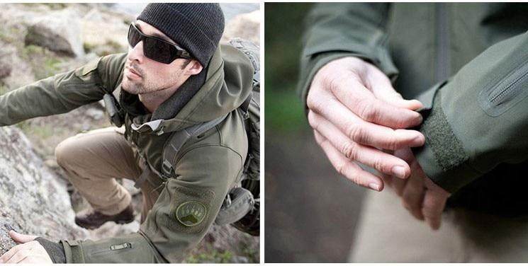 Military Tactical Jacket Men Shark Skin Softshell Jackets Waterproof Coat Camouflage Hooded Army Camo Clothing TAD Fleece Jacket