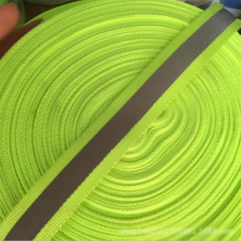DoreenBeads 2 cm 45 M/Roll Polyester Belt Webbing Reflective Tape Traffic Safety Warning DIY Supply Fluorescent Green Gray 1 PC ...