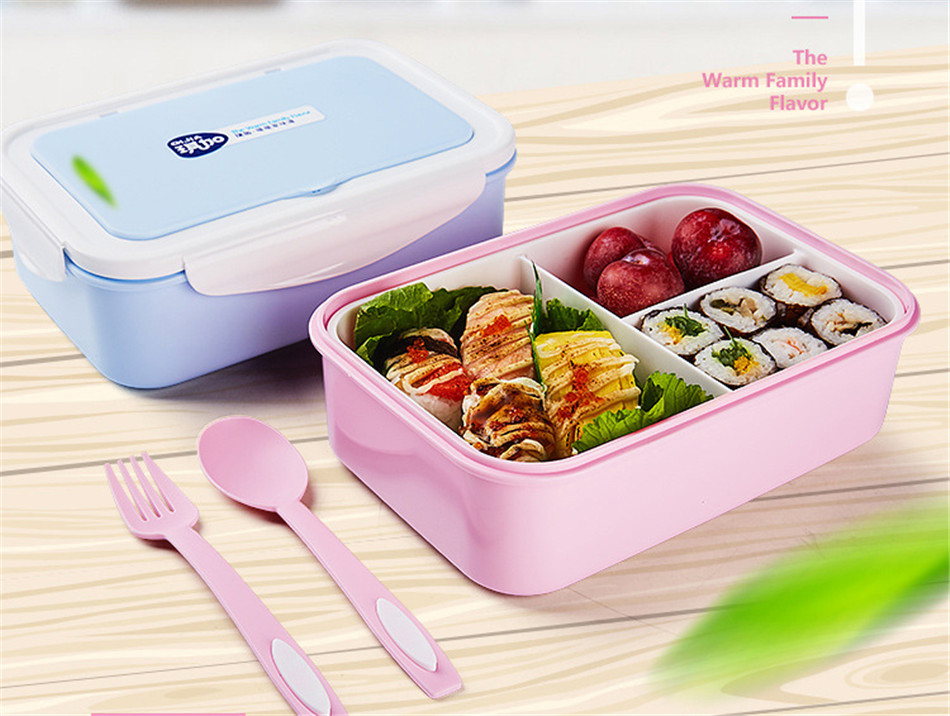 ONEUP Lunch Box Eco-Friendly Portable Food Container With Bags Tableware Microwavable Bento Box For kids Picnic School Office 5