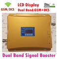 Display lcd! Gsm 900 MHz DCS 1800 MHz amplificador de sinal de banda dupla, Gsm DCS celular repetidor de sinal + adaptador