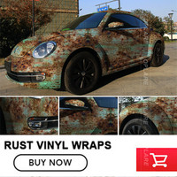 Iron Rusty Style Car Rust Protection Vinyl Car Wrap Hydrographic Film Camo Camouflage Foil with air channel free shipping
