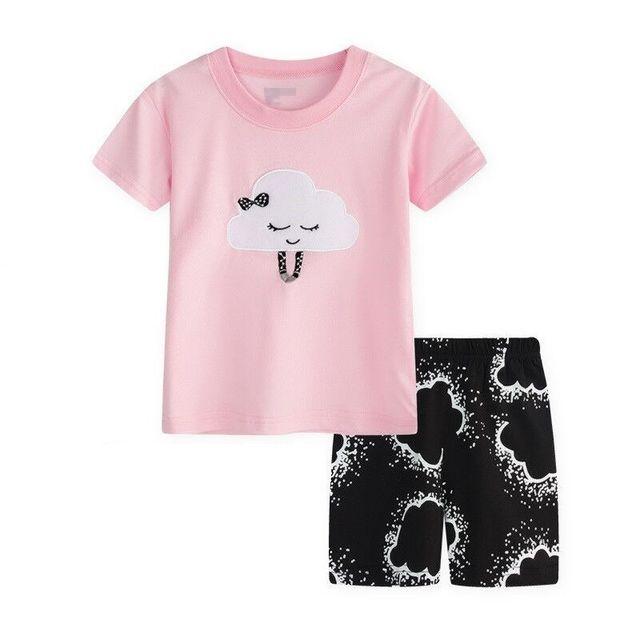 2017 Crianças Novas do Algodão Pijama Siut Meninos Pijama Da Criança Do  Bebê Meninas Pijamas Infantis c74715cb536fe