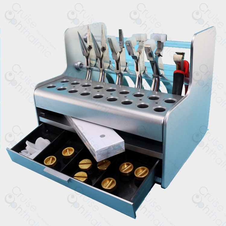 Plastic Glasses Tools Stand Screwdriver Pliers Stand Rack Holder Screws Nose Pads Case Box For Optical Repair Tools