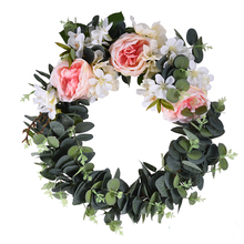 Artificial Rses Flowers Wreaths Wedding Door Wreath For Wall Car Decoration DIY Fake Decorative Plants Floristry Flower