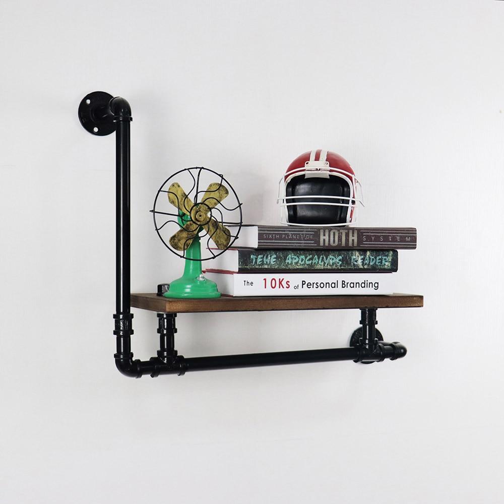 DIY Industrial Retro Wall Mount Iron Pipe Shelf BookcasesDIY Industrial Retro Wall Mount Iron Pipe Shelf Bookcases