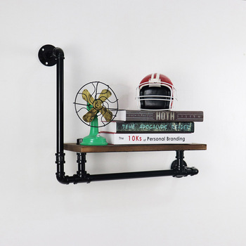 DIY Industrial Retro Wall Mount Iron Pipe Shelf Bookcases