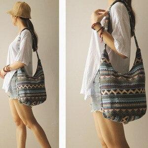 Image 5 - Bolso con correa ajustable para mujer y niña, bandoleras cruzadas de hombro Vintage, bolso bohemio Hippie tailandés, bolsos estilo Hipster