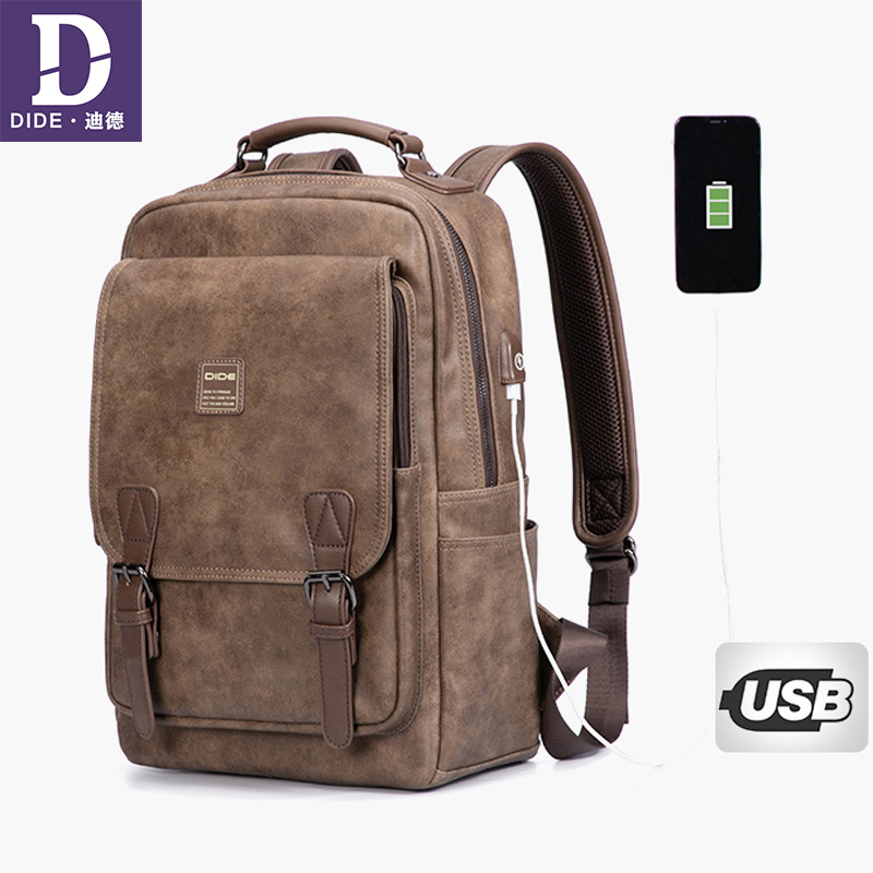 DIDE USB charging Brand Travel Large Capacity Backpack Male Luggage Shoulder Bag Computer Backpacking Men Functional Bags men travel canvas backpack large capacity male luggage shoulder bag computer backpacking men student vintage casual backpack