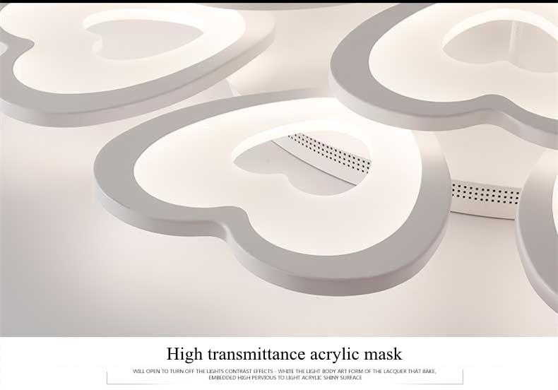 Plafoniere Moderne Led : Hochwertige herzförmigen moderne led deckenleuchte hause licht