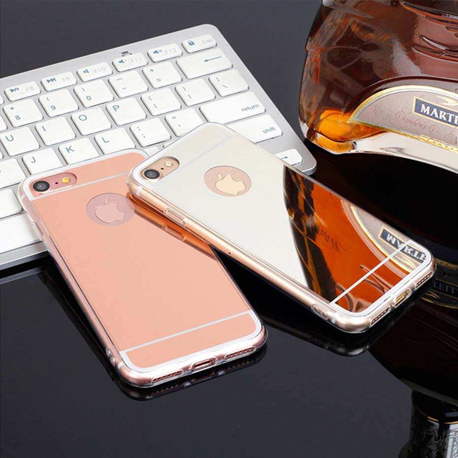 Caenboo Case For Samsung Galaxy J1 J2 J3 J4 J5 J6 J7 J8 2016/2018 Plus Pro Rose Gold Luxury Mirror Fashion Soft Shell Slim Case Modern Design Phone Bags & Cases