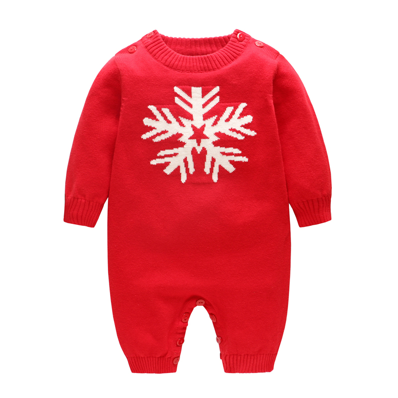 ESCERO Baby Clothing Cotton Rompers Girl Boy Christmas Clothing Romper Bebe Winter Coat Baby Girl Clothes Newborn Rompers