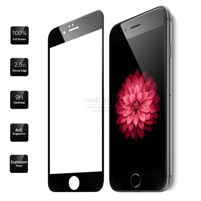 0.26mm Full Screen Protection Tempered Glass For Apple iPhone 6S plus Screen Protector Glass Film On For iPhone 7 6 7 Plus 9H