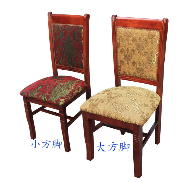 Solid wood chairs upholstered high back Hotel solid dining chair dinette  child