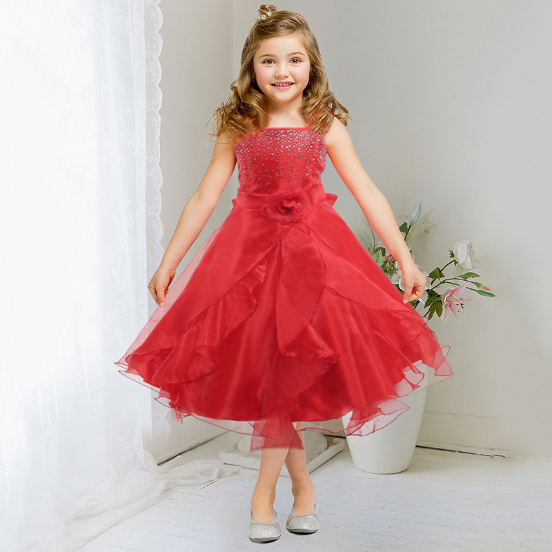Christmas costumes Ball gown dress girls The girl in clothing is 12 years old Carnival costumes Girls party dress kids chiffon the little old lady in saint tropez