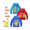 cute kids causal hoodie coat cartoon Pokemon GO Pikachu diverse sweatshirt for 3-10yrs child boys girls outerwear hoody clothes