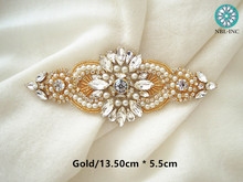 Silver rose gold rhinestone appliques iron on beaded crystal applique for  wedding dress garment WDD0230- a68b57c1adf1