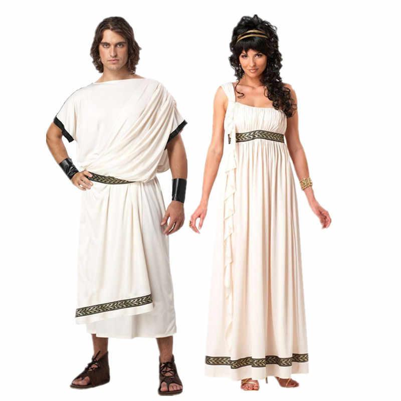 Nowy Starożytnej Mitologii Greckiej Produktu Firmy Olympus Zeus Hera Fancy Dress Toga Boga Bogini Kostiumy Cosplay Disfraz Mujer Kostiumy Z Gier Aliexpress