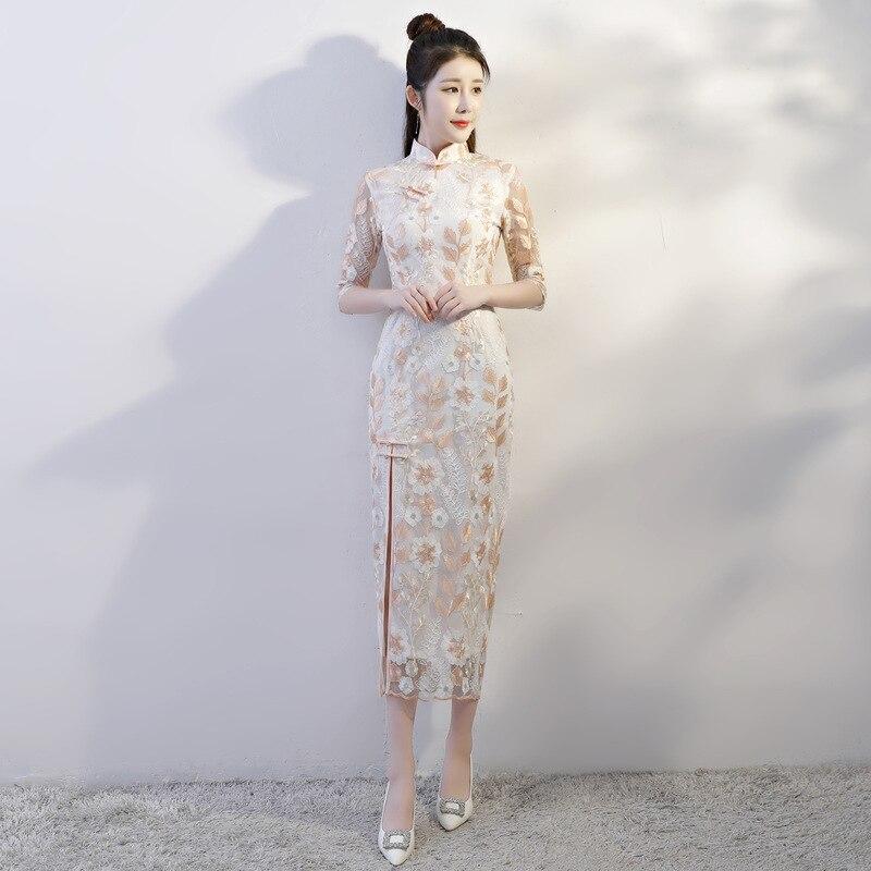 e70dbb656b7 Nouvelle Chinois xs992 Mince Qipao Robe Dentelle S Vintage Taille Sexy  Femmes L Xl Xxxl Partie Style Cheongsam Xxl Xs991 M Élégant Longue ...