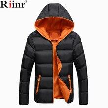 Riinr, новинка, модная зимняя куртка, мужское теплое пальто, куртка, мужские парки, куртки, Мужское пальто, на молнии, с капюшоном, куртка с воротником, мужская, размер S-5XL