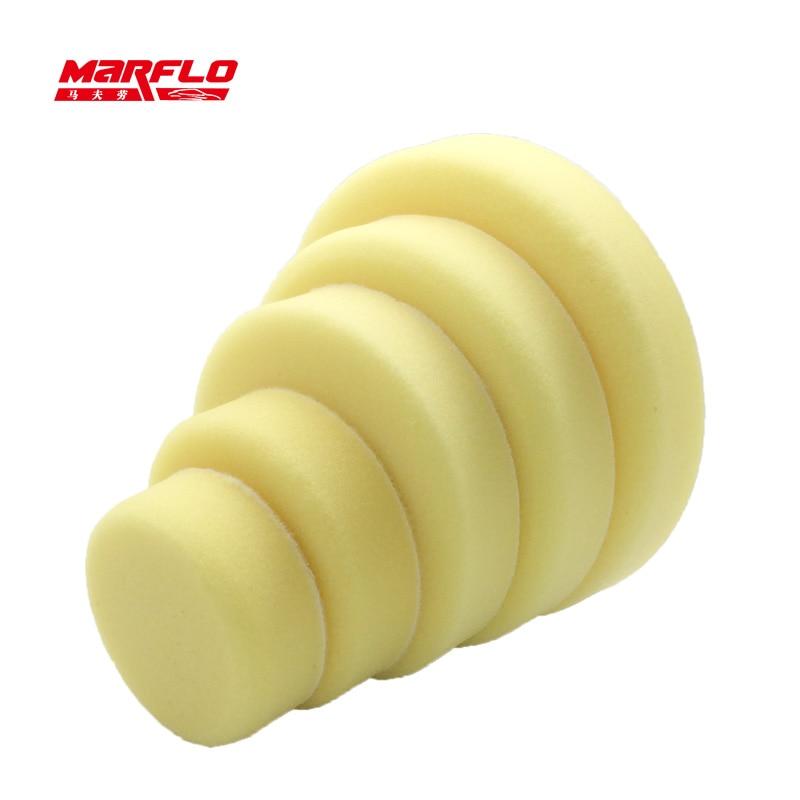 Marflo Sponge Polishing Pad Dual Action Pad Sponge Buff Polish Pad Heavy Medium Fine Grade 180mm 150mm 125mm 100mm 80mm