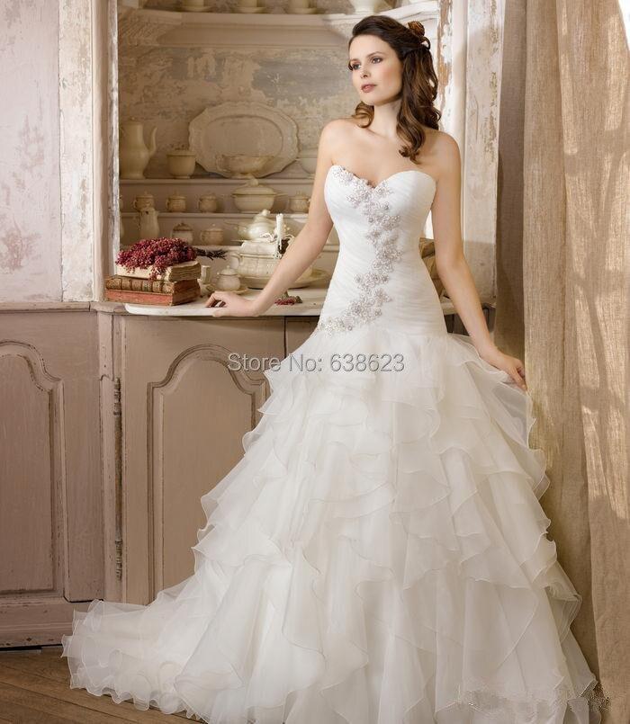 daw2625 elegante vestido de bola vestidos de novia sin mangas