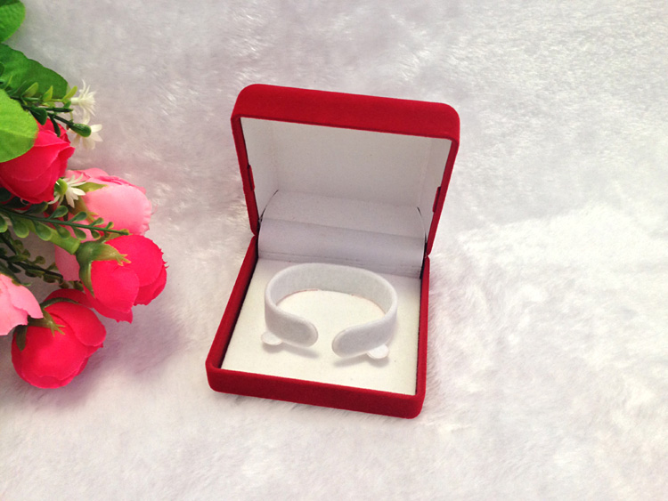 Free Ems Shipping 48pcslot Red Velvet Jewelry Box Bracelet Box Gift
