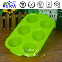 6 Hold Cupcake Mold Rectangle cake molds silicone pastry molds bread baking DIY moulds creative cake baking tools FreeShipping