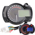 Universal 1000rpm/min KMH/MPH LCD Display Digital LED Speedometer Odometer 1-6 Gears ODO TRIP Gauge for KTM Yamaha Sport Bike