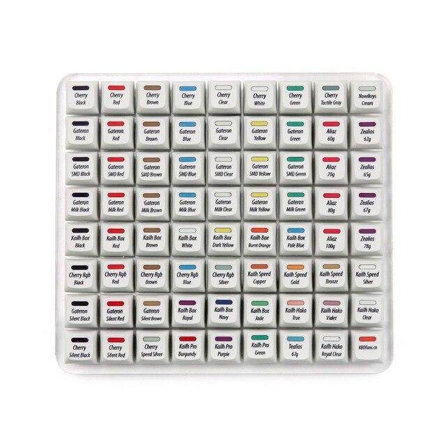 R3 KBDfans Ssuper 72 commutateurs testeur tout en un avec XDA colorant sub keycaps