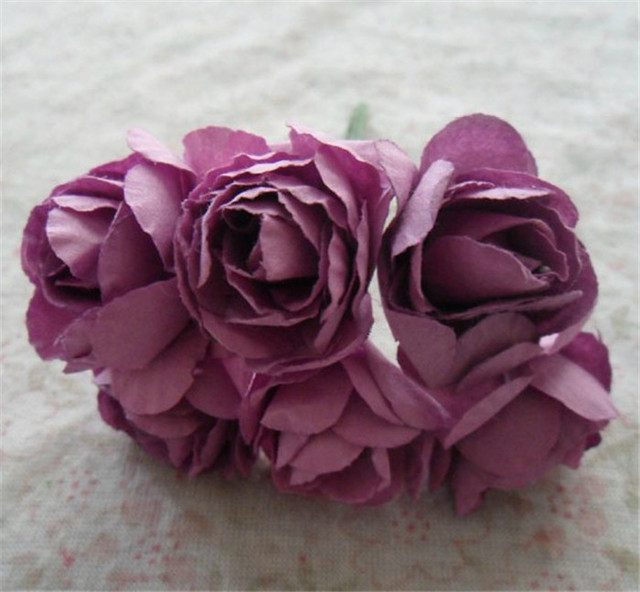 25cm Artificial Flower Paper Rhododendron Wedding Decoration