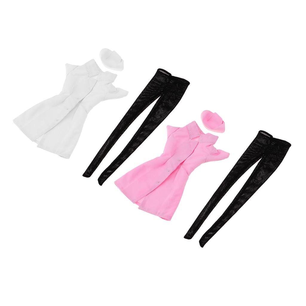 1/6 Scale Nurse Dress Female Pants Set Women Clothing for 12 Action Figure DIY Accessories Pink
