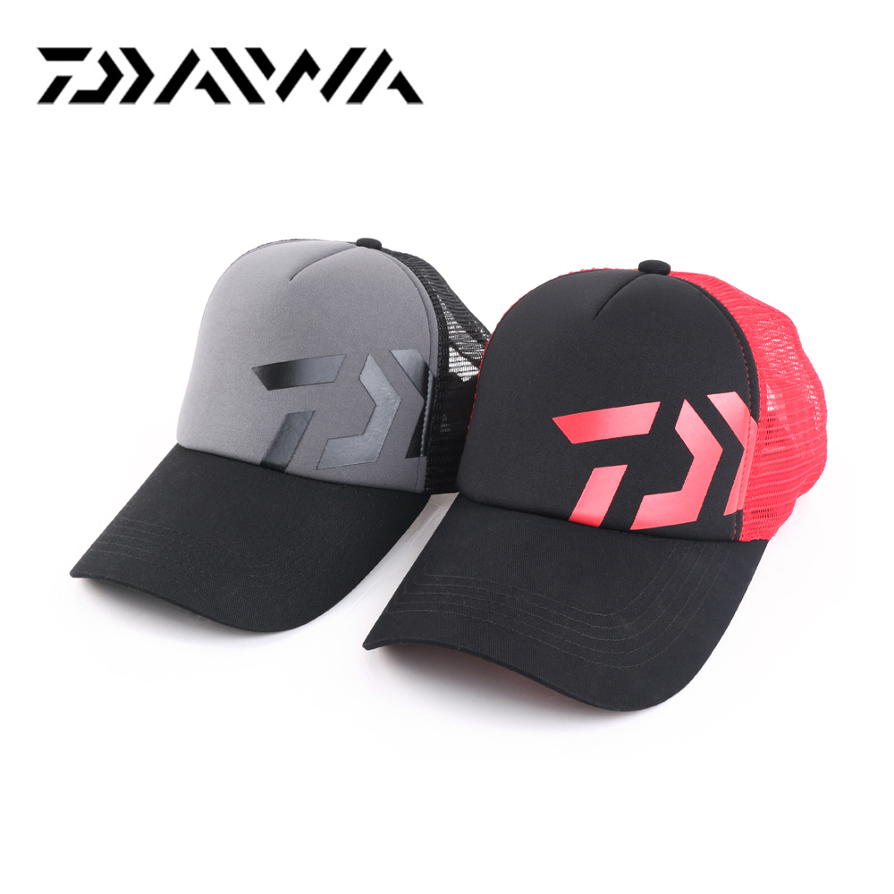 Daiwa mens fishing waterproof hollow outdoor sports cap fishing hat New cap for fishing Cycling Baseball Golf Tennis Hiking Hat