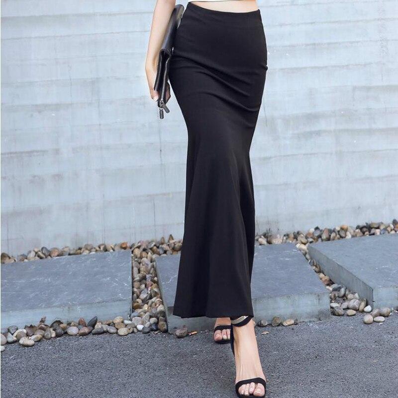 Primavera Cintura Mujeres Nueva Blanco blanco Ropa Moda Alta Y Verano Negro 2018 Faldas Sexy Negro Jóvenes Casual Slim 1fwq5x