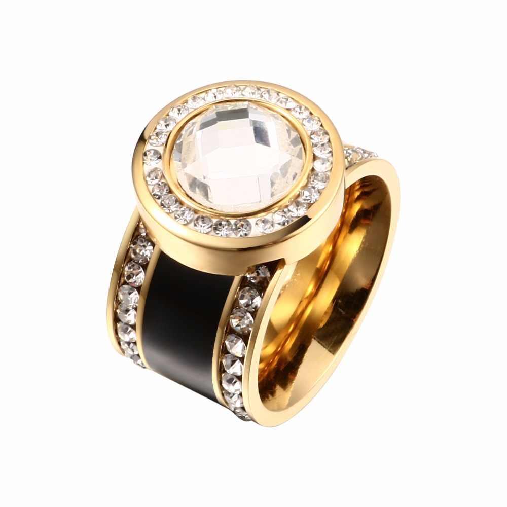 MSX кольца из нержавеющей стали для мужчин розовое золото цвет кольцо с кристаллом Циркон инкрустация Walentines подарок на день роскошный бренд мужские ювелирные изделия