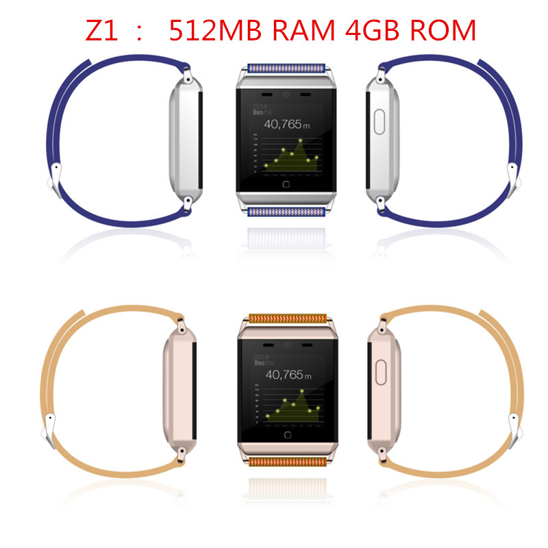 Newest Smart Watch Z1 New Product Waterproof IP67 512MB RAM 4GB ROM Support MTK6572 GPS Heart Rate Monitor For Iphone Android цена и фото