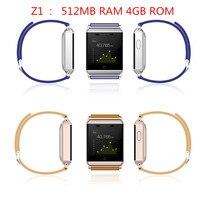 Nieuwste smart watch z1 nieuwe product waterdichte ip67 512 mb ram 4 gb rom ondersteuning mtk6572 gps hartslagmeter voor iphone Android