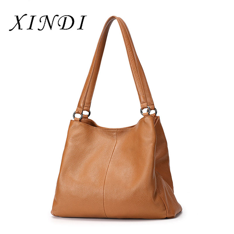 Brand Bag female 100% women genuine leather handbag fashion Multi-functional shoulder bags Lady Large Capacity Casual Tote Bags hahmes 100% genuine leather women bags fashion casual tote handbag wholesale high capacity shoulder bag 31cm 10602