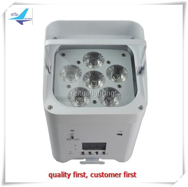 10pcs/lot flycase New Stage Uplight Wifi APP Smart 6 12w LED Par Light RGBWA UV 6IN1 Wireless Recharge Lumiere Wifi Show Par Can