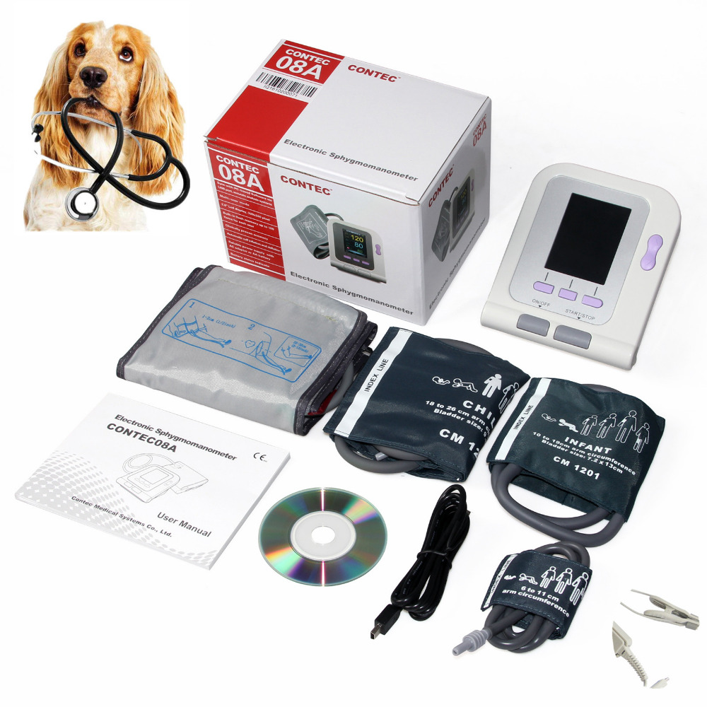 CONTEC08A Vet Veterinary TFT Display with 3 cuff and probe Heart Beat Monitor NIBP animal use BP Monitor недорого