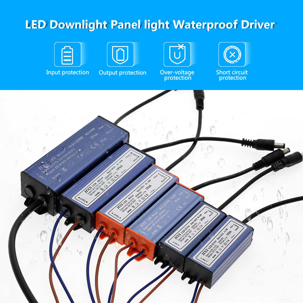 Светодиодный драйвер AC85V-265V 6 Вт 10 Вт 20 Вт 28 Вт 42 Вт 54 Вт световые трансформаторы для светового драйвера панели.