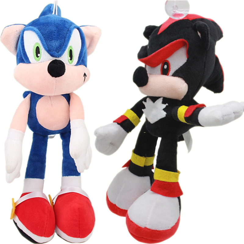 2pcs/lot 30cm Sonic Plush Toy Sonic The Hedgehog & Black Shadow the Hedgehog Plush Stuffed Toys Doll for Children Kids Gifts
