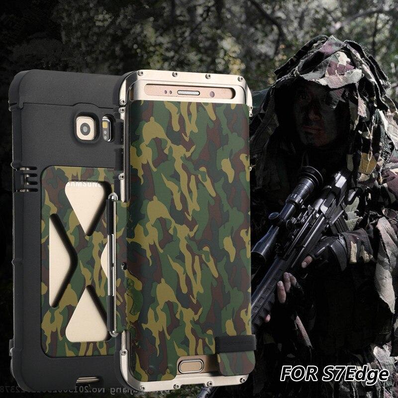 R JUST противоударный чехол для Galaxy S7 Edge S6 край S6 edge plus чехол книжка с Алюминий металла Король Лев Железный человек 360 Защитный бронированный чехол для телефона