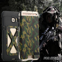 R JUST ShockProof Case For Galaxy S7 Edge S6 Edge S6 edge plus Flip Aluminum Metal King Iron Man 360 Protective Armor Phone Case
