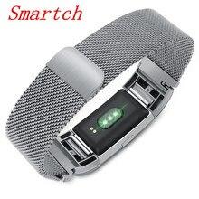 Smartch S18 смарт-браслет Поддержка сердечного ритма артериального давления сообщение напоминание фитнес-трекер Smart Band Smart Браслет