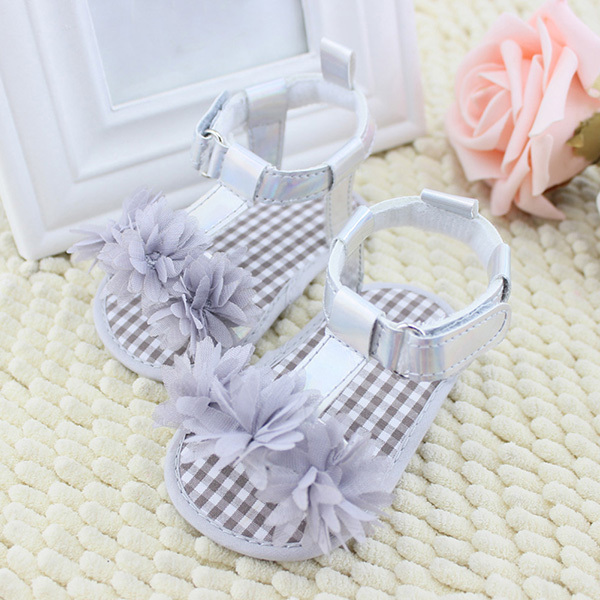 Newborn Baby Summer Prewalker Shoes Princess Soft Soled Anti-slip Flower First Walkers