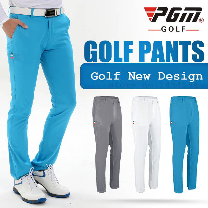 Men Slim Long Pant Sportswear with TEE Pocket Ultra-thin Dry Fit Casual Trousers Pantalon De Golf/Tennis Apparel Male Clothes