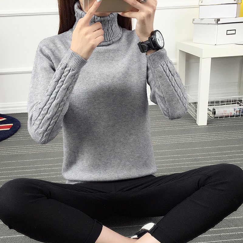 Korean Style Turtleneck Sweater Women Winter Christmas Pullover Jumper Women Sweaters And Pullovers Coats Trui Jersey Mujer