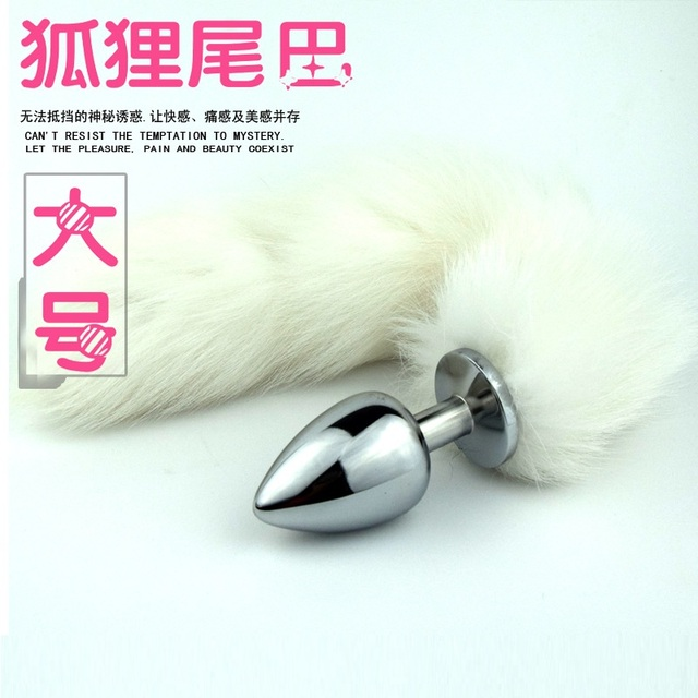 Large size White Fox Anal Tail,Sex Anal Plug Products For Women & Men,Anal Tube, Butt Plugs Toys,ButtPlug role play Sex toys
