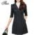 Tlzc nuevas mujeres outwear de largo más el tamaño m-4xl moda turn-down collar otoño invierno primavera mujer negro/marrón gabardina